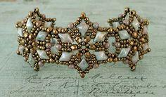 Bracelet of the Day: Starflower - Chalk Lumi Green (Linda's Crafty Inspirations)