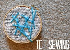 Tutus and Tea Parties: Tot Sewing with Burlap