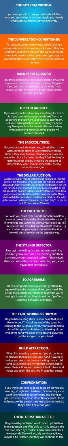 Funny pictures about Some Psychology Tricks You Need To Try. Oh, and cool pics about Some Psychology Tricks You Need To Try. Also, Some Psychology Tricks You Need To Try photos. Simple Life Hacks, Useful Life Hacks, Daily Hacks, Weird Facts, Fun Facts, Pseudo Science, Info Board, Tips & Tricks, Mind Tricks