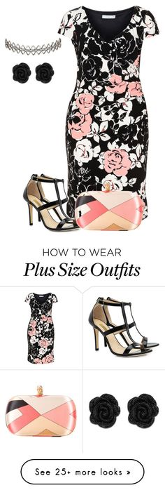"""plus size wedding date look"" by kristie-payne on Polyvore featuring Gina Bacconi, Dee Keller, Emilio Pucci and Assya London"