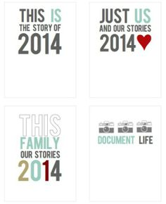 Free 2014 printable Project life cards
