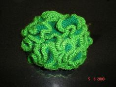 Someone over at craftster  asks me for a simpler way of explaining how to do a hyperbolic crochet so here it is!  So, what I did was: 1. 6sc...