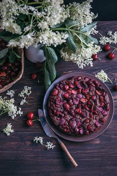 cherry chocolate cak