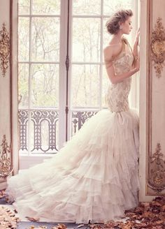 Sophisticated Lazaro wedding dress