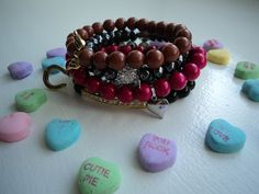 Aniston five stackable bracelet set by ddandbells on Etsy, $175.00