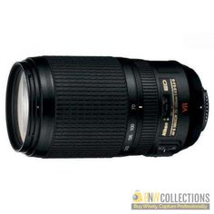 Buy Nikon 70-300mm f/4.5-5.6G ED IF AF-S VR Zoom Lens At Rs.50,500 Features :- compact and lightweight, ultra-quiet auto focusing Cash on Delivery Hassle FREE To Returns Contact # (+92) 03-111-111-269 (BnW) #BnWCollections #Nikon #Zoom #Camera #Lens