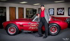 "Carroll Shelby and the only factory built drag racing Cobra with the potent 427 big block ( 5 others were built w/small blocks). This is a ""muscle"" car! Ac Cobra, Ford Shelby Cobra, Shelby Car, Mustang Cobra, Ford Mustang, King Cobra, Hot Rods, Carroll Shelby, Sweet Cars"