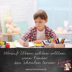 Eltern sollten genau hinsehen, wenn ihre Kinder das Schreiben lernen!