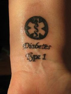 DIABETES- What a great idea! tattoo it instead of wearing the bracelet that always stands a chance of falling off and getting lost.
