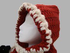 Child Hooded Cowl Redwood Crochet Neckwarmer by CherylsKnits, $40.00