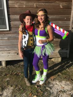 DIY Homemade Teen Toy Story Buzz Light Year and Woody Halloween Costumes.  Adorable with Andy on boot and shoe.  Cute! Costume idea.  Easy! Overheim