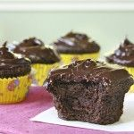 insanely moist and decadent chocolate cupcakes with delicious chocolate icing