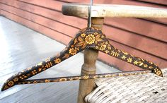 upcycled, vintage wooden clothes hanger