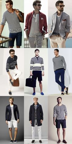 Men's Riviera Style Outfit Inspiration Lookbook - The Breton Long-Sleeved Top