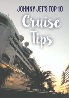 I love cruises. On my most recent, I kept giving my dad tips for being on a cruise ship and then it dawned on me that I should create a post of my top 10 cruise tips that I could share with Johnny Jet readers, too, so here they are: Best Cruise, Cruise Tips, Cruise Vacation, Vacation Destinations, Vacation Ideas, Vacations, Carnival Inspiration, Travel Inspiration, Travel Tours