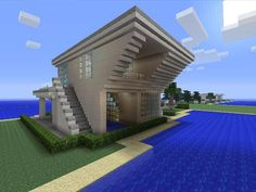 Minecraft gaming xbox xbox360 house #home creative mode mojang barn modern house…