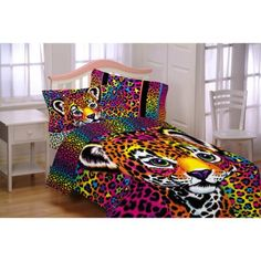 Lisa Frank Wildside Microfiber Reversible Twin/Full Bedding Comforter - Walmart.com  Kids bedding ideas. Kids comforter