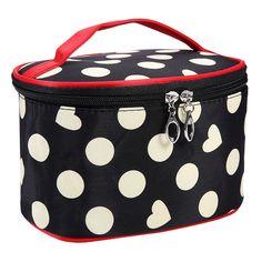 Portable Waterproof Multifunction Dot Love Heart  Bag Travel Package Makeup Bag Case