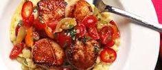 Scallops with Lemon-Basil Sauce