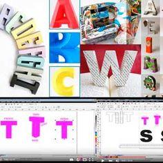 Reuni aqui todos os links para moldes free de letras 3D e quem quiser criar seu próprio molde, também tem vídeo ensinando no Corel mas pode fazer direto no Studio que é a mesma técnica.