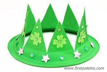 St. Patrick's Day Paper Plate Crown