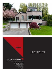 Featuresheet cover design for REALTOR Doug Williams (www.dougwilliams.ca).   #Vancouver #Real #Estate #Design #Branding #Featuresheets #Buyers #Sellers #Packages #Business #Cards #Mailouts #Brochures #Pamphlets #REALTOR