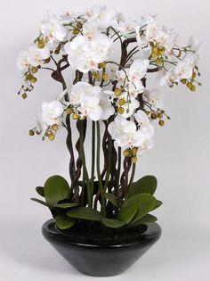"""SUPERBE ARBRE ORCHIDEE en Pot Fleurs artificielles 90cm QUALITE luxe """"real touch"""""""