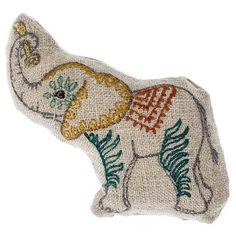 """Tiny stuffed pal! Embroidered on 100% linen fabric. Stuffed with polyfil. Measures 2.5"""" x 2.5""""."""