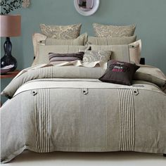 Found it at Wayfair - Buttons and Stripes 3 Piece Duvet Cover Set