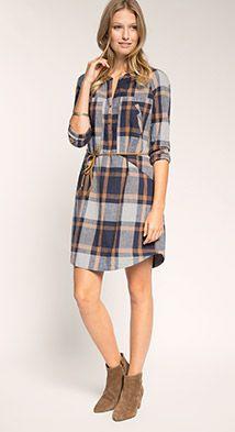 Esprit / Robe à carreaux 100 % coton