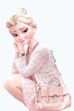 If Disney characters went to your school Elsa Frozen