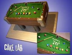 pool table cake