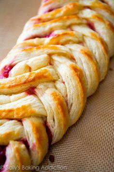 How to Make Homemade Danish Pastry using the quick method | sallysbakingaddiction.com @Sally [Sally's Baking Addiction]