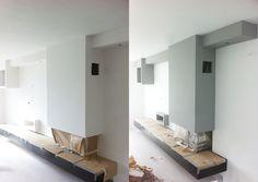 Hardsteen in combinatie met de kleur RAL 9016 | Renovlies van Easy ...