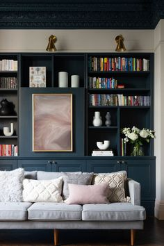 Home Interior Design, Interior Styling, Interior Decorating, Room Inspiration, Interior Inspiration, Dark Ceiling, Pastel Walls, Victorian Townhouse, English Interior