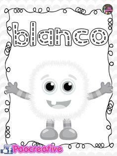 48 Ideas De Color Blanco Colores Aprender Los Colores Colores Preescolares