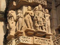 Sculptures from the Lakshman Temple, Khajuraho, Madhya Pradesh, India