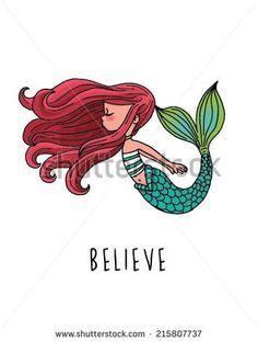 Mermaid Love - stock vector