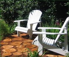 Lily Pads - Make a splash on a path or a perfect spot in your garden with Walpole's substantial to high pads. They are crafted from cedar tree cross sections. Outdoor Chairs, Outdoor Furniture, Outdoor Decor, Garden Tips, Home And Garden, Walpole Woodworkers, Walpole Outdoors, Building Raised Beds, Cedar Trees