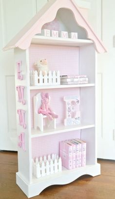Children's Cottage Dollhouse Bookcase House Bookshelf Custom Made | eBay