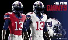 uniform redesign for every NFL team Football Jerseys, Football Helmets, Football Stuff, Houston Texans, Dallas Cowboys, 32 Nfl Teams, Nfl Uniforms, Nfl New York Giants, Sports Fanatics