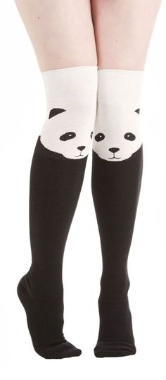 Panda knee high socks!