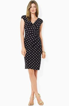 I own several Lauren Ralph Lauren faux-wrap jersey dresses in solids and polka dots and they're fantastic! They're great for travel because they don't wrinkle (and I hate ironing). The faux-wrap is super flattering without making you go through the work of tying an actual wrap dress (which I can never figure out).