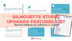 Silhouette Studio Upgrade Features List: Designer Edition, Designer Edition Plus, Business Edition Silhouette School Blog, Silhouette Cameo Tutorials, Silhouette Cameo Machine, Silhouette Vinyl, Silhouette America, Silhouette Portrait, Silhouette Projects, Silhouette Files, Small Business Help