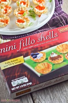 Cream Cheese and Pepper Jelly Fillo Shells - Lemon Sugar Quick And Easy Appetizers, Appetizers For Party, Appetizer Recipes, Dinner Recipes, Pastry Cup Recipe, Jelly Cream, Phyllo Cups, Pepper Jelly, Lemon Sugar