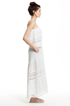 4f6de9a5af Cattleya Strapless Lace Trim Dress