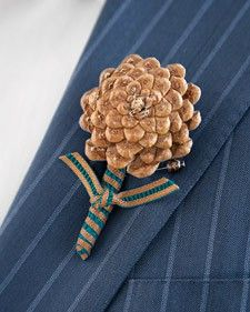 Pine cone lapel pin or ladies pin for wedding, fall gathering or just for fun.