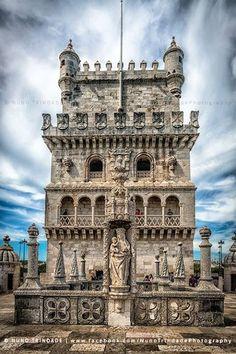 Torre de Belém, Lisboa. Es obra de Francisco de Arruda y Diogo de Boitaca, y constituye uno de los ejemplos más representativos de la arquitectura manuelina