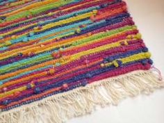 Cotton Loop Rug Kit - I could do this down at Baker Allegan Studio on one of their looms.