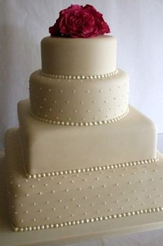 Simple Yet Elegant Wedding Cake Very Similar To Ls Though
